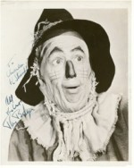 "RAY BOLGER - Portrayal of the SCARECROW in ""THE WIZARD OF OZ"" Signed 8x10 B/W Photo"